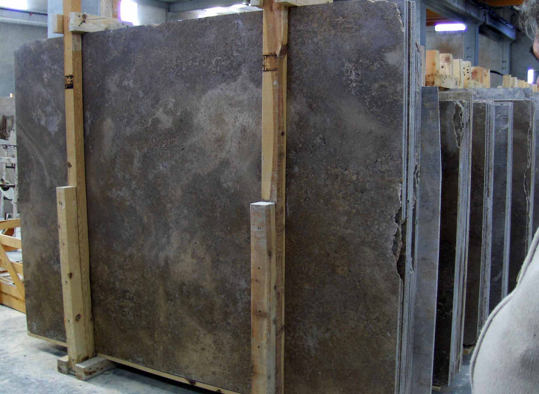 noce travertine slabs
