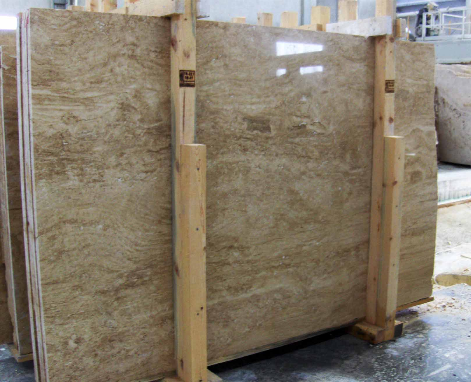 walnut travertine slabs