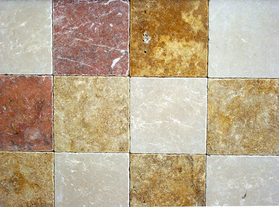 tumbled marble tiles
