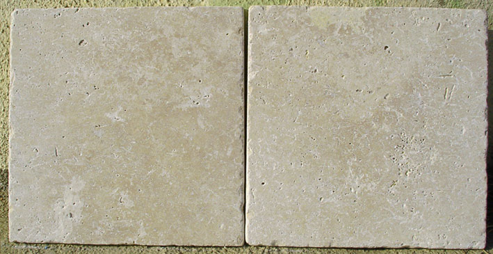 "8"" x 8"" tumbled noce travertine"