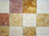 "tumbled 8"" x 8"" marble tiles"