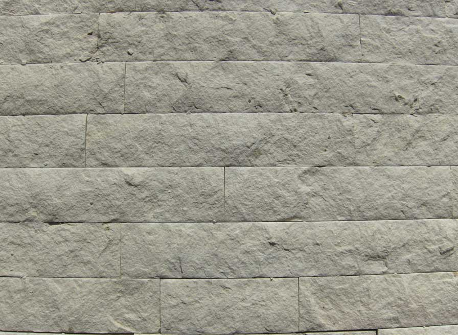 split face wall cladding, white limestone
