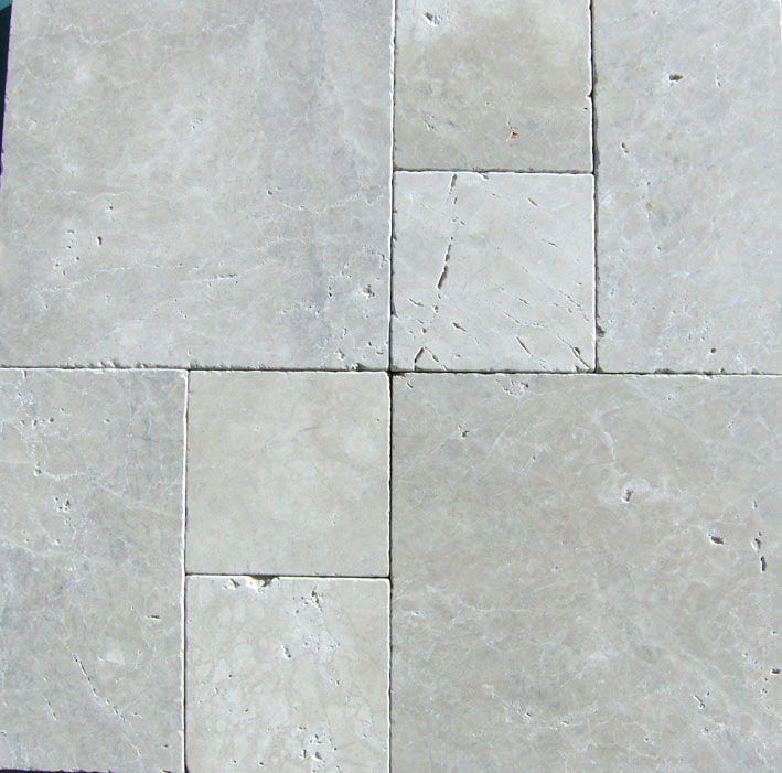 cushioned edge travertine pavers